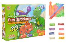 3D plastelína s formičkama Dino - Set 18ks - 5907773986157
