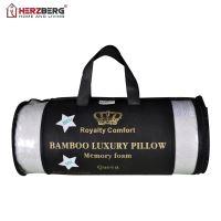Royalty Comfort HG-5076BM: Bambusový luxusní polštář s pěnou s ergonomickou pamětí - Queen