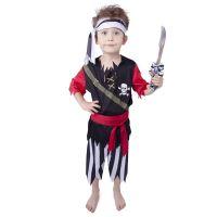 Dětský kostým pirát se šátkem (M) (8590687884144)