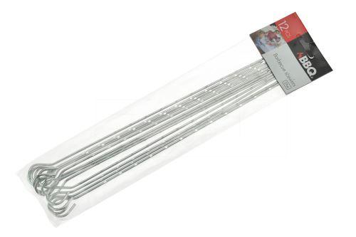 Nerezové grilovací jehly BBQ (27cm) - Set 12ks - 8719202956771