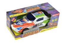 Závodní auto na setrvačník 1:16 - Bílé - 8590331114375
