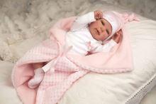 Arias znovuzrozená panenka 45 cm mo rosa com manta
