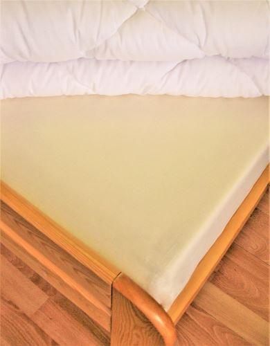 VERATEX Bavlněné prostěradlo dvoulůžko 220x260 cm (smetanové)