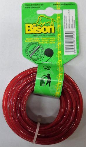 Bison PROFI (červená)- kruhový profil 2,0mm 15m (122)