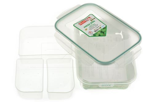 Plastový box se silikonovým těsněním a 3x vyndávacím vnitřkem PLAST ART 1l - 8696219364938