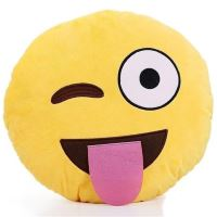 Emoji Dekorační polštář Emoji - jazyk