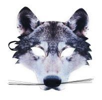 Maska vlk s vousy dětská (8590687160026)