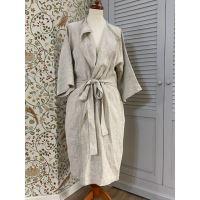 Aesthetic Lněný plášt KIMONO UNI 100% len - MIX barev Barva: přírodní