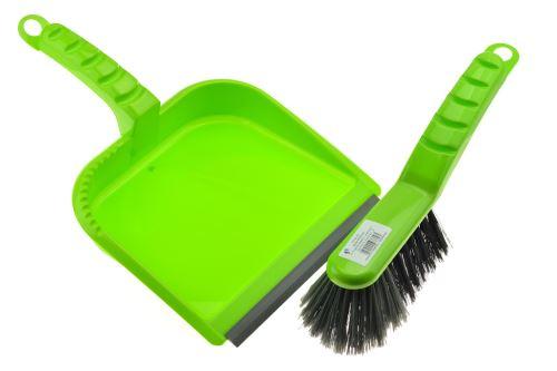 Smetáček a lopatka s gumou - Zelený - 8592676000252