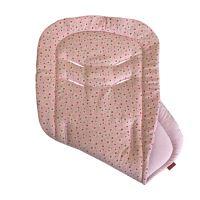 Aesthetic Podložka do kočárku oboustranná - Vintage starorůžové plátno / růžová bavlna