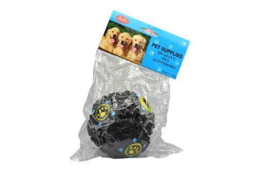 Plastová hračka pro psy se zvukem kachny - Černá koule (9cm) - 8595589020058