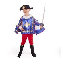 Dětský kostým mušketýr modrý (M) (8590687189881)