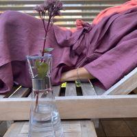 Aesthetic Lněný plášt KIMONO UNI 100% len, gramáž 245g/m2 - MIX barev Barva: Lilac