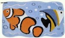 VERATEX Koupelnová předložka LUX rybky 60x100 cm