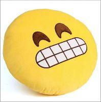 Emoji dekorativní polštář - šklebil se