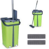 Cenocco CC-9077: Plochý mop s kbelíkem zelený