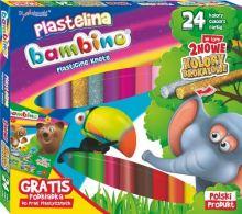 Bambusová plastelina 24 barev + podložka pro umělecká díla