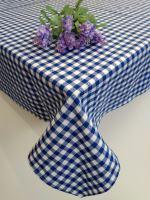 VERATEX Bavlněný ubrus tkaný 120x140cm kanafas modré srdíčko