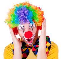 Paruka klaun barevná pro dospělé (8590687119000)