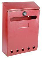 Poštovní schránka kovová venkovní Hybryda Červená