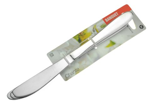 Jídelní nože BANQUET CHANTE (21cm) - Set 3ks - 8591022362440
