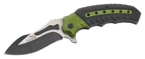 Cattara Nůž zavírací COBRA 20cm s pojistkou zelená-černá 13257
