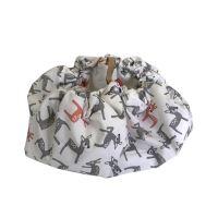 Aesthetic Hnízdo pro miminka 3v1, stahovací vak na hračky, Hrací kruhová podložka  plátno/plátno (bambi šedá/bílá)