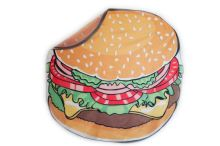 Rychleschnoucí plážová podložka 135 cm, provedení hamburger