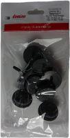 Nábytkový kluzák Ø30 černý z filcem (8 ks.)