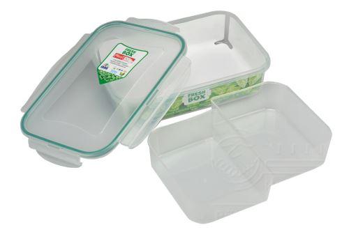 Plastový box se silikonovým těsněním a vyndávacím dvojtým vnitřkem PLAST ART 1l (6x21,5x15cm) - 8696219364921