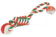 Přatahovací provaz s míčkem DOGS (36cm) - 8719987054914