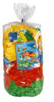 Plastové stavební bloky kostky 28 mm kl-wg barevné 630 el