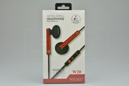 Sluchátka s mikrofonem WELIKE W20