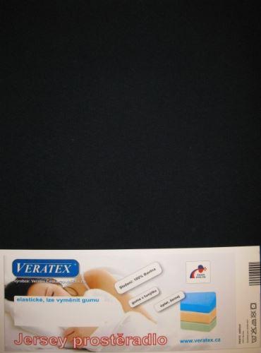 VERATEX Jersey prostěradlo 200x200 cm (č.35-černá)