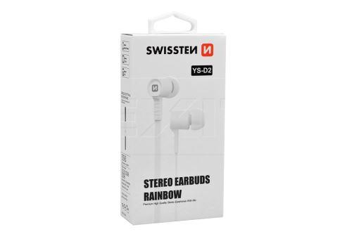 Stereo sluchátka s mikrofonem SWISSTEN YS-D2 - Bílé - 8595217496798