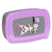 Svačinový box domácí zvířata šedo-fialová ptc-3022