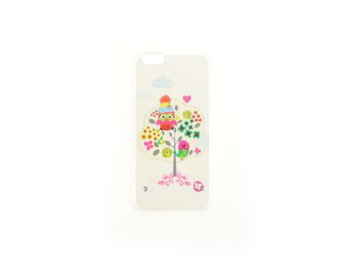 Plastové pouzdro na iphone 6, 4.7 - Sova na stromě, čiré - 8657988017487