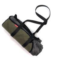 Aesthetic Softshellová deka - universální - khaki maskáč s černým lemem Rozměr: 145x200 cm - velká bez popruhu