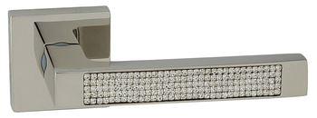 Dveřní dělené rozetové kování ELECTRA-QR CRISTAL Klika štít hranatý