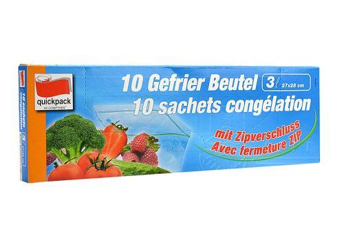 Zipové sáčky na potraviny 3l (27x28cm) 10ks - 4008284430106