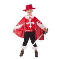 Dětský kostým mušketýr červený (S) (8590687189959)