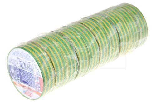 Elektrikářská páska 0.15x15mm / 5m - Žluto zelená 1 ks - 4042448435408