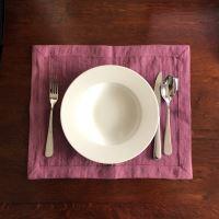 Aesthetic Lněné prostírání - mix barev - 100% len, gramáž 245g/m2 Barva: Lilac