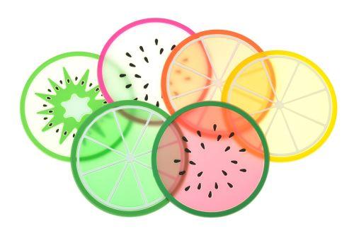Tácky pod nápoj EH (9cm) - Set 6ks ovoce - 8719987468063