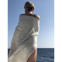 Aesthetic Lněná plážová deka, osuška - 100% len Rozměr: 150x200 cm, Barva: přírodní