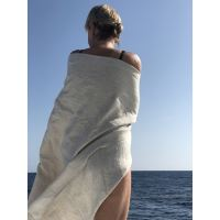 Aesthetic Lněná plážová deka, osuška - MIX barev a velikostí - 100% len, gramáž: 245 g/m2 Rozměr: 95x150 cm, Barva: khaki