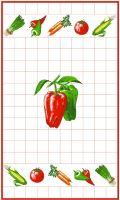 VERATEX Utěrka 40x70cm papriky 100% Bavlna (1ks)