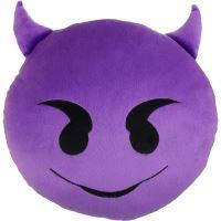 Emoji Dekorační polštář Emoji - fialový ďábel