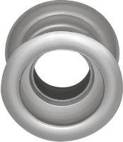 Mřížka plastová dveřní kruhová vnitřní průměr 40 mm stříbrnná