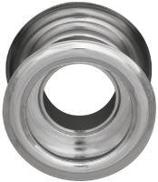 Mřížka plastová dveřní kruhová vnitřní průměr 40 mm chrom
